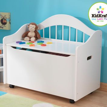 KidKraft Limited Edition Toy Box - White - 14101