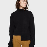 Which We Want / Split Sweater in Black