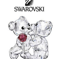 Swarovski Crystal Figurine Kris Bear ''A Rose For You''  # 5076625 New