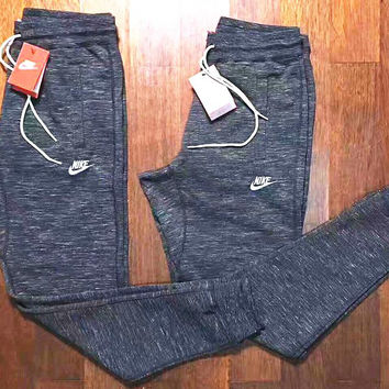 NIKE Hot Trending Knit Logo Grey Long Sports Pants