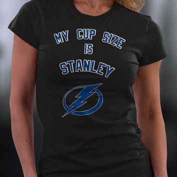 Tampa Bay Lightning Hockey,Tampa Bay Lightning Tshirt, My Cup Size Is Stanley Tampa Bay Lightning Tshirt
