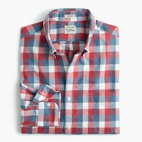Slim Secret Wash shirt in exploded pink check