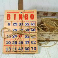 Vintage Bingo Cards Collection of 21 - Aged Paper Ephemera for Repurposing