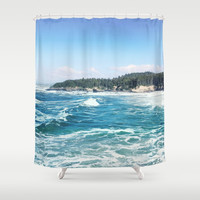 Oregon coast Shower Curtain by sylviacookphotography