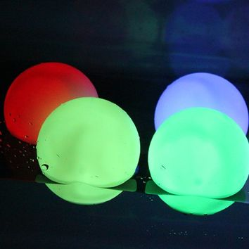 AGPtek® 3¨ Mood Light Garden Deco LED Flashing Ball Floating Ball for Pool Ponds Parties 1 Pack
