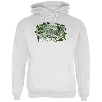 Alligator Swamp Water Splatter Mens Hoodie