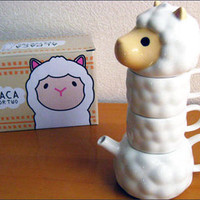 Rakuten: The pretty interesting convenient mug cup and set of the teapot! Tea four two of the alpaca- Shopping Japanese products from Japan