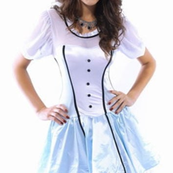 Halloween Costume Alice in the wonderland for Roleplay Cosplay Party _ 2983