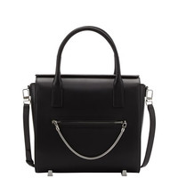 Alexander Wang Chastity Large Leather Satchel Bag, Black