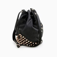 DailyLook: Studded Bucket Bag