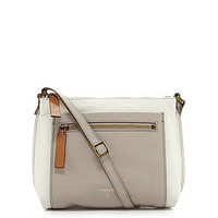 Fossil Vickery Colorblocked Cross-Body Bag - White/Multi