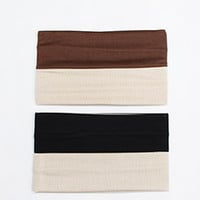 2 Piece Neutral Yoga Headband Set