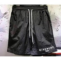 "Hot Sale ""Givenchy"" New Popular Women Men Loose Letter Print Sports Shorts Black I12620-1"