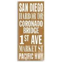 San Diego by Artist Cory Steffen Wood Sign