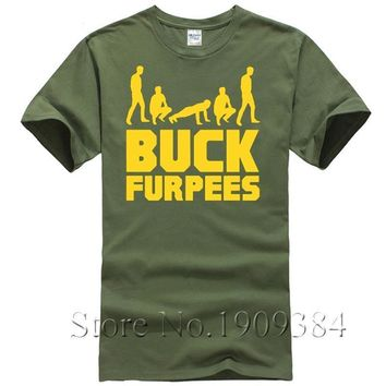 Buck Furpees - Men's Printed Casual T-shirt - Funny Gym Goer's Tee