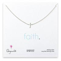 Dogeared Faith Classic Cross Necklace Sterling Silver