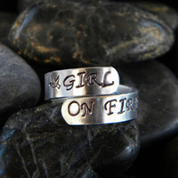 Hunger Games Ring GIRL ON FIRE by PurplePelicanDesigns on Etsy