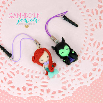 Custom cell phone charm, character cell phone charm, Disney cell phone charm, dust plug