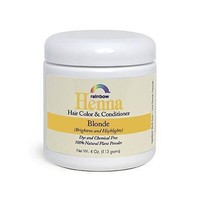 Rainbow Research Henna 100% Botanical Hair Color and Conditioner - Blonde - 4 oz