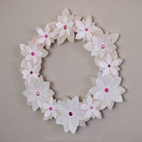 Wedding Wreath Paper Flowers Vellum 12 inch