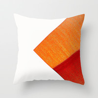 Orange Throw Pillow by Jensen Merrell Designs
