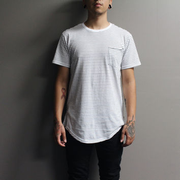 Kayden Stripe Pocket Tshirt (Black/White)