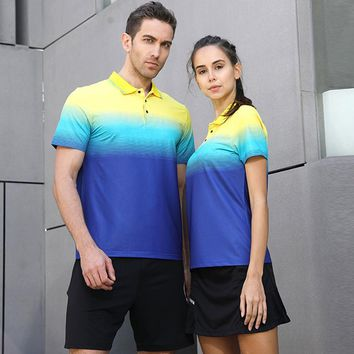 New Quick Dry Badminton Tennis Uniform Sports Top Table Tennis Men/Women Volleyball Jerseys Team Game T Shirts