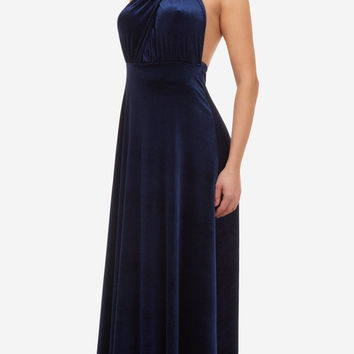 Infinity dress, prom dress, bridesmaid dress, blue velvet dress, ball gown, long dress, evening dress, party dress, cocktail dress