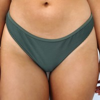 Salty Kisses Bikini Bottom: Olive