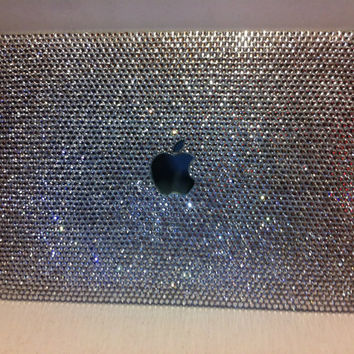 Bling Clear crystal laptop cover fr Macbook 13 handmade w/ Swarovski element