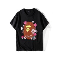 Short Sleeve Summer Cartoons Couple Round-neck T-shirts [10567304903]