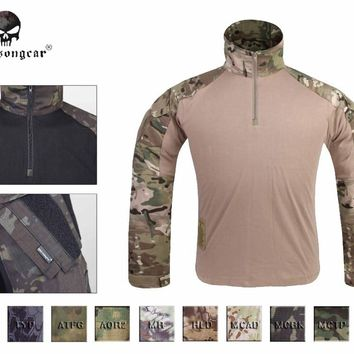 Emersong GEN3 Combat Shirt Hunting Airsoft Tactical clothes Military Camouflage T-shirt  Multicam Black Woodland