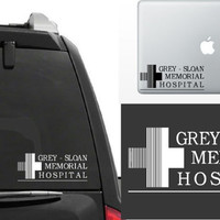 Grey's Anatomy Grey Sloan Memorial Hospital Vinyl Window Decal Laptop Sticker