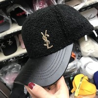 DCCK6HW Yves Saint Laurent YSL' Unisex Casual All-match Letter Flat Cap Baseball Cap Couple Hip-hop Hat