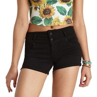 "Refuge ""Mid-Rise Roll-Up"" Colored Denim Shorts"