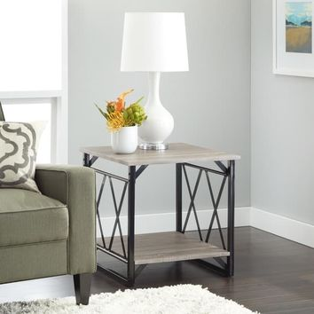Simple Living Seneca XX Reclaimed Look End Table | Overstock.com Shopping - The Best Deals on Coffee, Sofa & End Tables