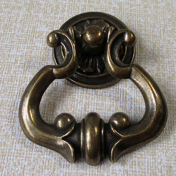 Brass Drop Dresser Drawer Pulls Knobs Handles Ring Antique Bronze / Cabinet Knobs Handle Pull Knob Furniture Decorative Knob Hardware 115