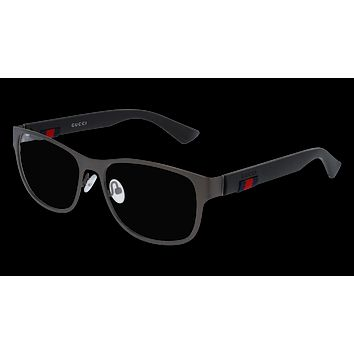 Gucci - GG0013O-002 Ruthenium Black Eyeglasses / Demo  Lenses