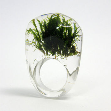 $40.00 Green MOSS Ring by sisicata on Etsy