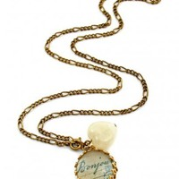 Rock 'N Rose Paris Is For Lovers Bonjour Vintage Necklace