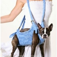 Puppoose Crochet Dog Carrier- Blue - Carriers - Other Style Carriers Posh Puppy Boutique