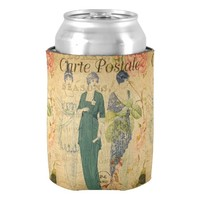 French Postcard Can Cooler