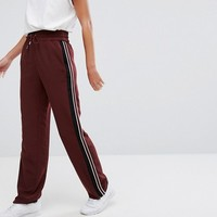 Monki Wide Leg Side Stripe Pants at asos.com