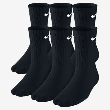 The Nike Performance Crew Kids' Socks (Large/6 Pairs).
