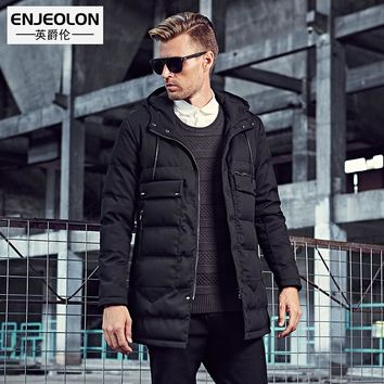 Cotton Padded Hooded Jacket Men windproof,Parka Men Clothing Thick Quilted long type Coat Men Hoodies