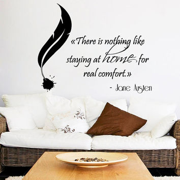 Family Wall Decal Quote There Is Nothing Like Staying At Home For Real Comfort Vinyl Stikers Art Mural Bedroom Decor Interior Design KY4