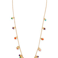 Aurélie Bidermann - Lily Of The Valley gold-plated beaded necklace