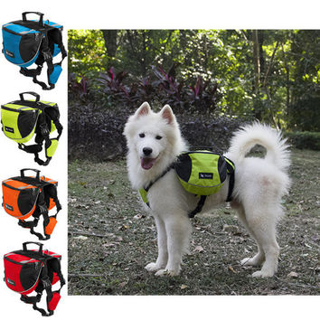 TAILUP 4 Colors Pet Knapsack Big Dogs Backpack Golden Retriever Outdoor Sports Bag Dog Carry
