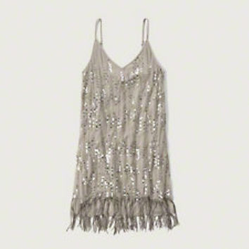 Sequin Fringe Slip dress
