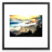 Society6 Sunrise Mountains Framed Print